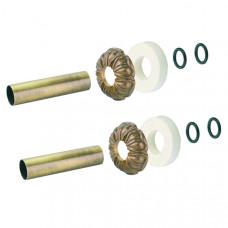 Набор декоративных трубок Carlo Poletti, Ду18, L=160 мм, бронза