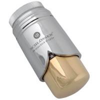 Термостатическая головка SCHLOSSER Brillant M30x1,5 SH, хром-золото