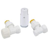 """Комплект термостатический SCHLOSSER Standart Mini 1/2""""х1/2"""" угловой, белый"""