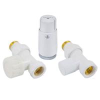 """Комплект термостатический SCHLOSSER Standart Mini 1/2""""х1/2"""" прямой, белый"""