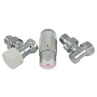 """Комплект термостатический SCHLOSSER Standart Mini 1/2""""х1/2"""" угловой, хром"""
