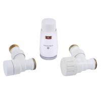 """Комплект термостатический SCHLOSSER Elegant Mini 1/2""""х M22x1,5 угловой, белый"""