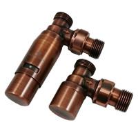 """Комплект термостатический SCHLOSSER Elegant Mini 1/2""""xM22x1,5 угловой, античная медь"""