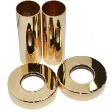 SR Rubinetterie Комплект декоративных трубок Ду18, L=70 мм, цвет золото, арт. 0491-1500D070